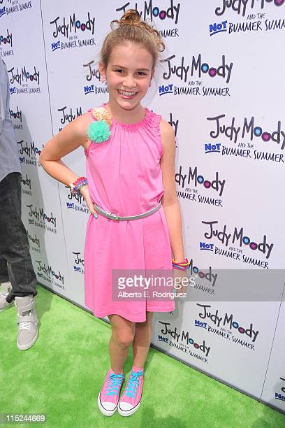 Actress Taylar Hender arrives at the premiere of Relativity Media's Judy Moody And The NOT Bummer Summer held at ArcLight Hollywood on June 4 2011 in...