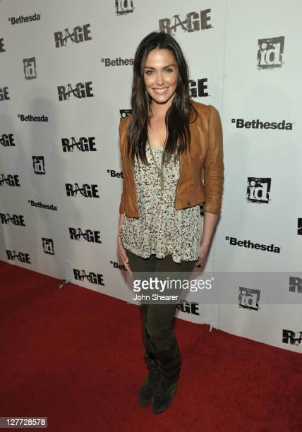Actress Taylor Cole arrives at RAGE Official Launch Party at Chinatown's Historical Central Plaza on September 30 2011 in Los Angeles California
