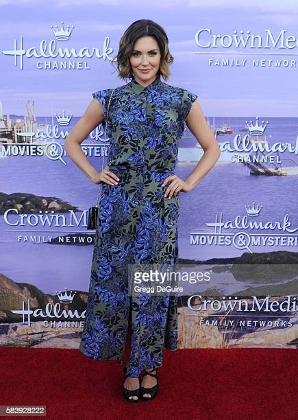 Actress Taylor Cole arrives at the Hallmark Channel and Hallmark Movies and Mysteries Summer 2016 TCA Press Tour Event on July 27 2016 in Beverly...