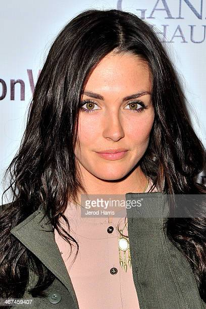 Actress Taylor Cole arrives at the Los Angeles Premiere of 'Ganzfeld Haunting' at Laemmle Beverly Hills on February 6 2014 in Beverly Hills California