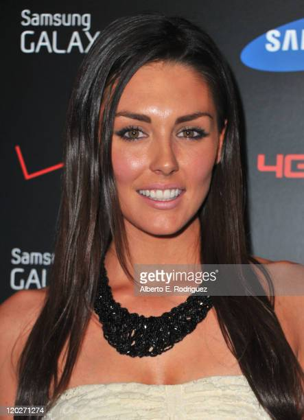 Actress Taylor Cole arrives to the Samsung and Verizon Launch of The Samsung Galaxy Tab 101 on August 2 2011 in West Hollywood California