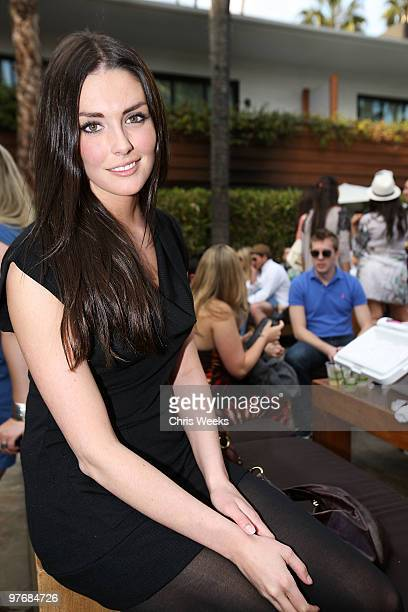 Actress Taylor Cole attends Muscle Milk's Springbreakitdowncom pool party at The Roosevelt Hotel on March 13 2010 in Hollywood California