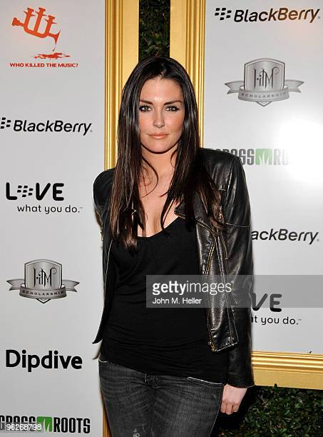 Actress Taylor Cole attends the 1st Annual Data Awards presented by wiliam the Black Eyed Peas and Dipdive at the Palladium on January 28 2010 in Los...