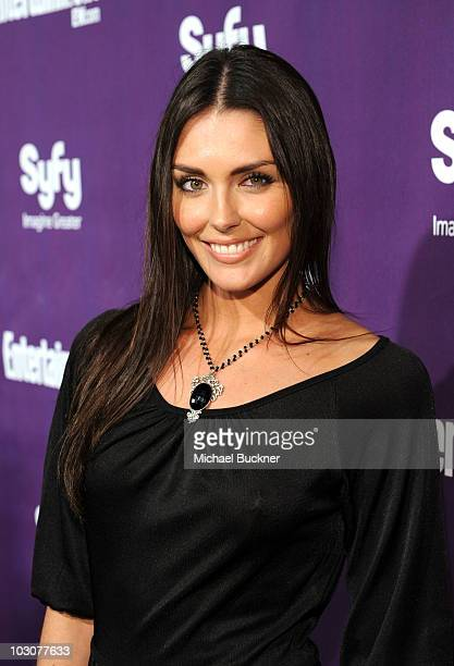 Actress Taylor Cole attends the EW and SyFy party during ComicCon 2010 at Hotel Solamar on July 24 2010 in San Diego California