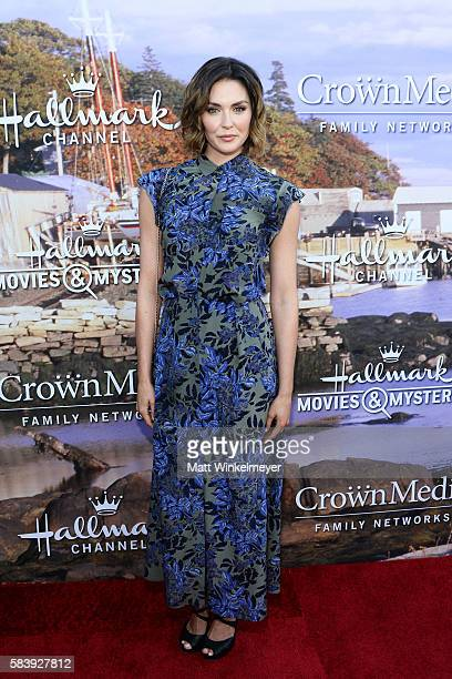 Actress Taylor Cole attends the Hallmark Channel and Hallmark Movies and Mysteries Summer 2016 TCA press tour event on July 27 2016 in Beverly Hills...
