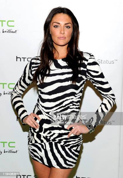 Actress Taylor Cole attends the HTC Status Social Launch Event With Usher at Paramount Studios on July 19 2011 in Hollywood California