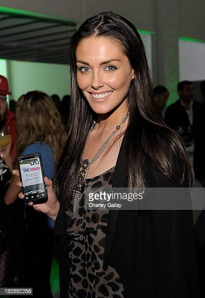 Actress Taylor Cole attends the launch of the EVO 3D presented by Radio Shack and HTC at the RadioShack PopUp 3D Lounge on June 23 2011 in West...