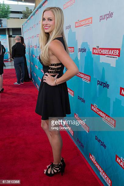 """Actress Taylor Kalupa arrives for the Red Carpet Premiere Of Stadium Media's """"The Matchbreaker"""" at the ArcLight Cinemas Cinerama Dome on October 4,..."""