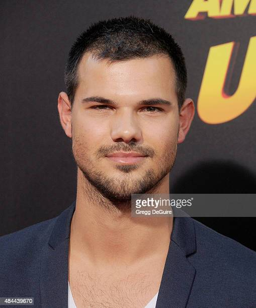 Actress Taylor Lautner arrives at the premiere of Lionsgate's 'American Ultra' at Ace Theater Downtown LA on August 18 2015 in Los Angeles California