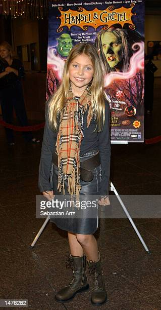 Actress Taylor Momsen arrives at the premiere of the movie 'Hansel Gretel' on October 14 2002 in Los Angeles California