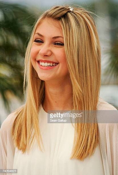 Actress Taylor Momsen attends a photocall for the film 'Paranoid Park' at the Palais des Festivals during the 60th International Cannes Film Festival...