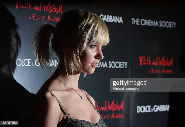Actress Taylor Momsen attends a screening of Filth and Wisdom hosted by The Cinema Society and Dolce and Gabbana at the IFC Center on October 13 2008...