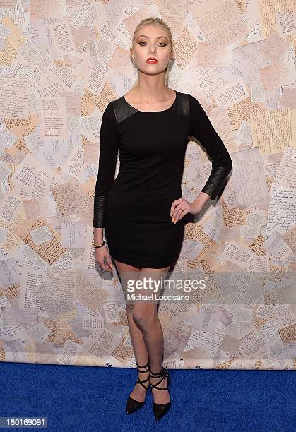Actress Taylor Momsen attends the alice olivia by Stacey Bendet presentation during MercedesBenz Fashion Week Spring 2014 on September 9 2013 in New...