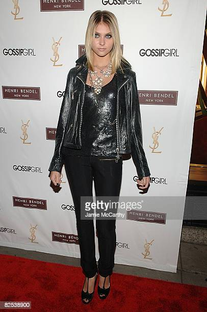 "Actress Taylor Momsen attends the Henri Bendel and YSL Beaute celebration of ""Gossip Girl"" Season 2 at Henri Bendel on August 24, 2008 in New York..."