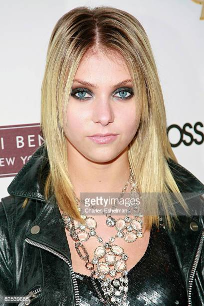 "Actress Taylor Momsen attends the Henri Bendel and YSL Beaute's celebration of the new season of ""Gossip Girl"" at Henri Bendel on August 24, 2008 in..."