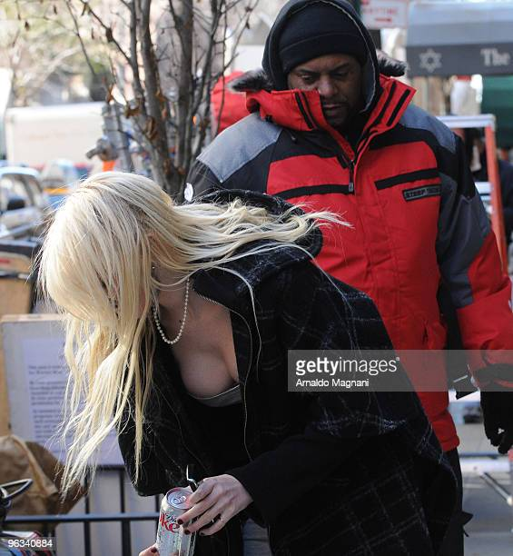 Actress Taylor Momsen works on the set of 'Gossip Girl' on February 1 2010 in New York City