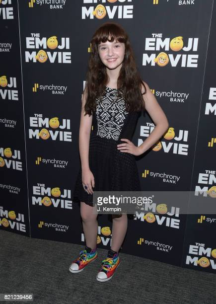 Actress Taylor Richardson attends The Emoji Movie New York Screening at New York Institute of Technology on July 23 2017 in New York City