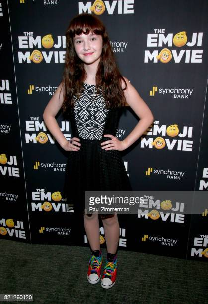 Actress Taylor Richardson attends The Emoji Movie Special Screening at NYIT Auditorium on Broadway on July 23 2017 in New York City
