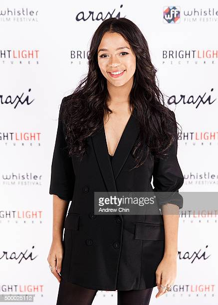 Actress Taylor Russell attends Brightlight Pictures' WFF White Carpet Party at Araxi on December 4 2015 in Whistler Canada