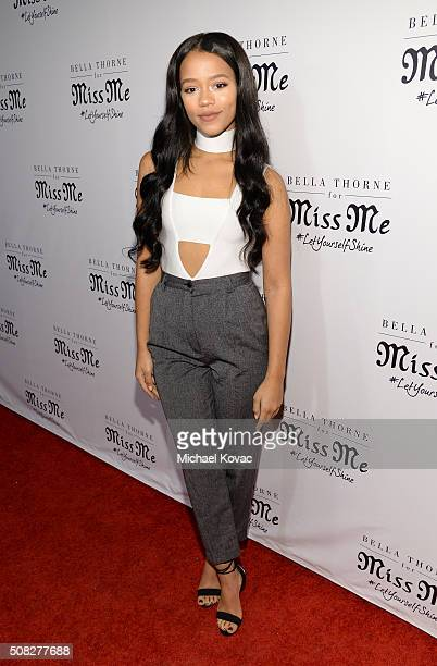 Actress Taylor Russell attends Miss Me® and Cosmopolitan's Spring Campaign Launch Event Hosted by Bella Thorne at The Terrace at Sunset Tower Hotel...