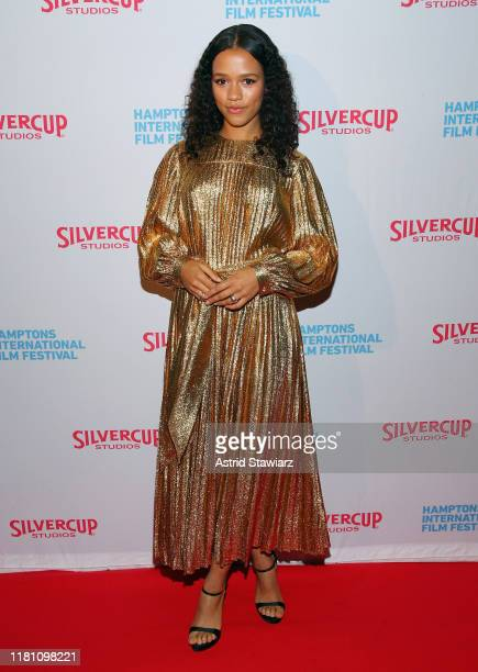 Actress Taylor Russell attends the closing night screening of Waves during the 2019 Hamptons International Film Festival on October 14 2019 in East...