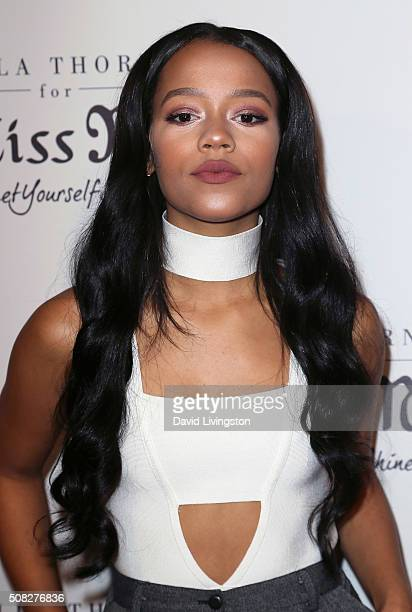 Actress Taylor Russell attends the Miss Me and Cosmopolitan's spring campaign launch event hosted by Bella Thorne at The Terrace at Sunset Tower on...