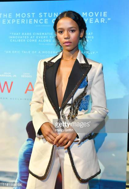 Actress Taylor Russell attends the Waves Atlanta red carpet premiere at SCADShow on October 16 2019 in Atlanta Georgia
