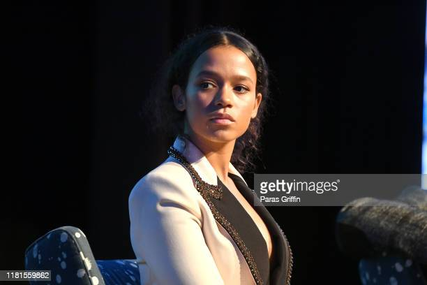 Actress Taylor Russell onstage during the Waves Atlanta red carpet premiere at SCADShow on October 16 2019 in Atlanta Georgia