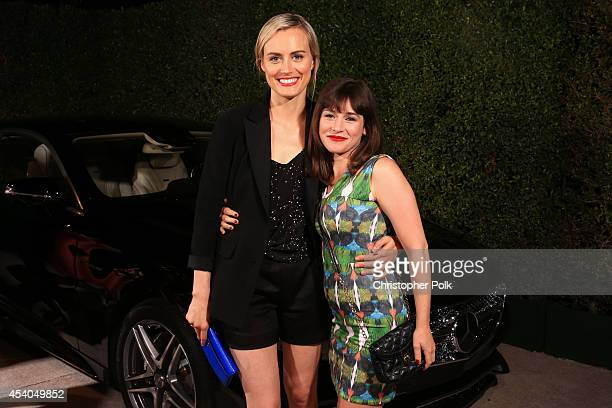 Actress Taylor Schilling and actress Yael Stone attend Variety and Women in Film Emmy Nominee Celebration powered by Samsung Galaxy on August 23 2014...