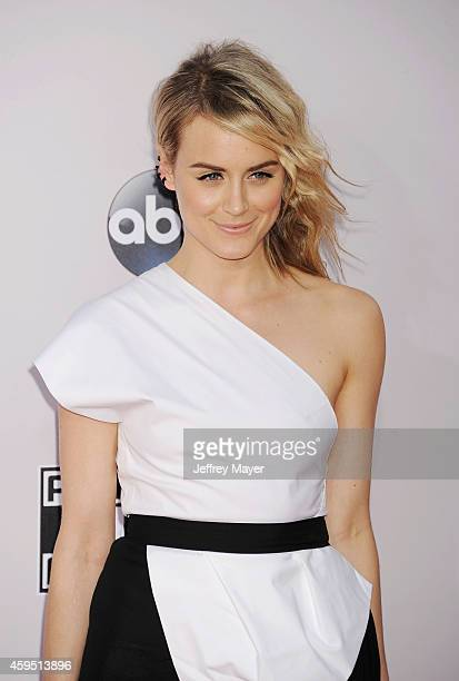Actress Taylor Schilling arrives at the 2014 American Music Awards at Nokia Theatre LA Live on November 23 2014 in Los Angeles California