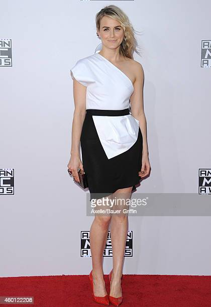 Actress Taylor Schilling arrives at the 2014 American Music Awards at Nokia Theatre L.A. Live on November 23, 2014 in Los Angeles, California.