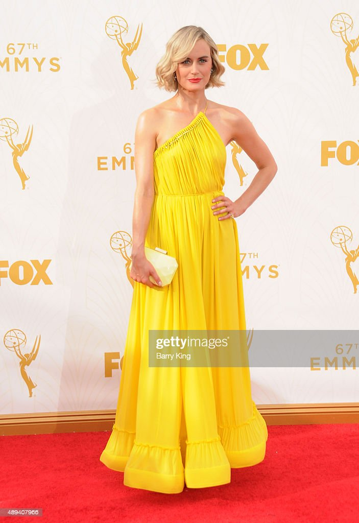 Actress Taylor Schilling arrives at the 67th Annual Primetime Emmy Awards at the Microsoft Theater on September 20, 2015 in Los Angeles, California.