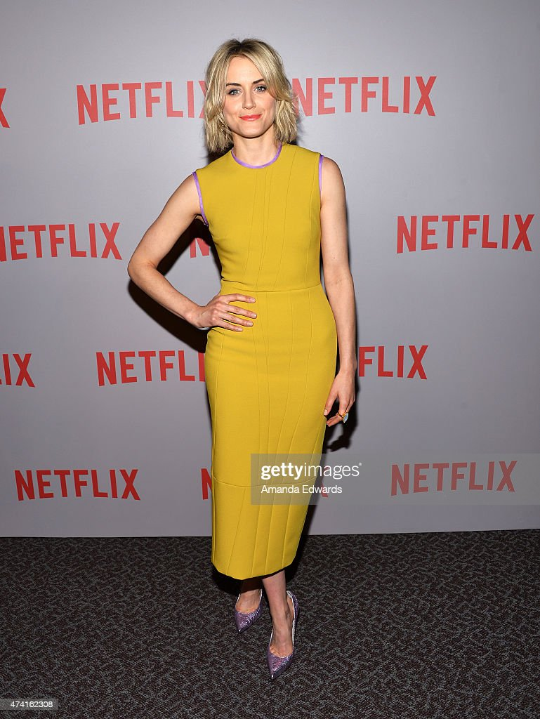 Actress Taylor Schilling arrives at the Netflix 'Orange Is The New Black' For Your Consideration Screening and Q&A at the Director's Guild Of America on May 20, 2015 in Los Angeles, California.