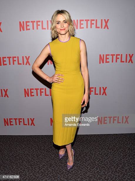 Actress Taylor Schilling arrives at the Netflix 'Orange Is The New Black' For Your Consideration Screening and QA at the Director's Guild Of America...