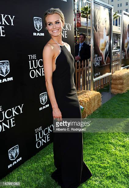 Actress Taylor Schilling arrives at the premiere of Warner Bros Pictures' 'The Lucky One' at Grauman's Chinese Theatre on April 16 2012 in Hollywood...