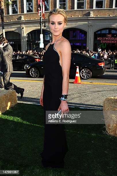 """Actress Taylor Schilling arrives at the premiere of Warner Bros. Pictures' """"The Lucky One"""" at Grauman's Chinese Theatre on April 16, 2012 in..."""