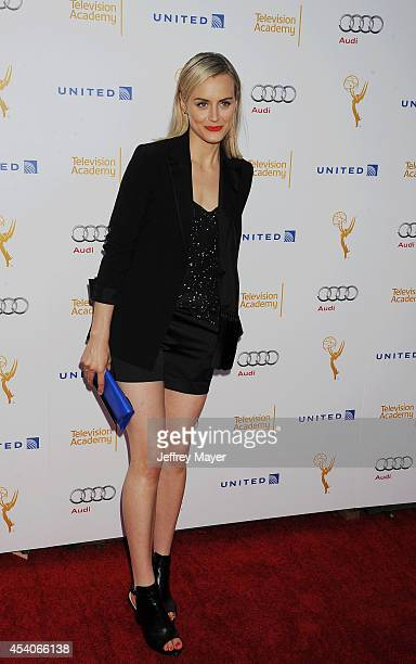 Actress Taylor Schilling arrives at the Television Academy's 66th Emmy Awards Performance Nominee Reception at the Pacific Design Center on Saturday...