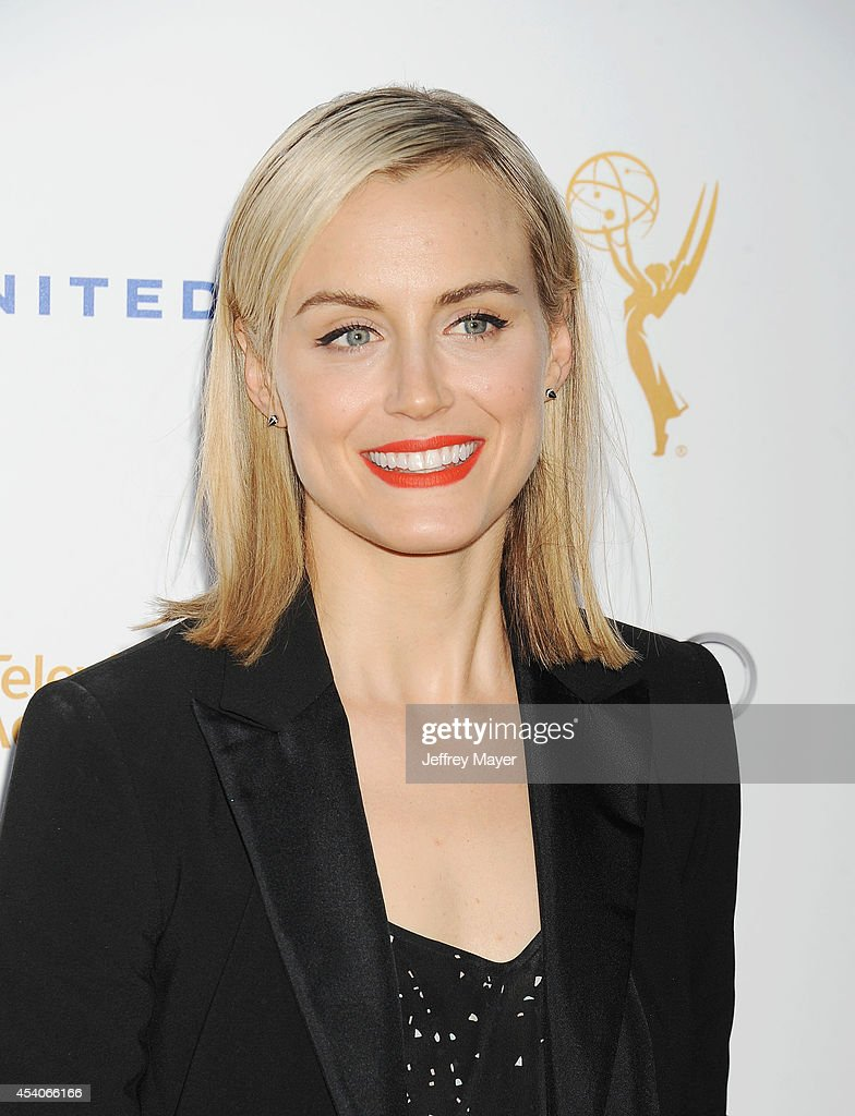Actress Taylor Schilling arrives at the Television Academy's 66th Emmy Awards Performance Nominee Reception at the Pacific Design Center on Saturday, Aug. 23, 2014, in West Hollywood, California.