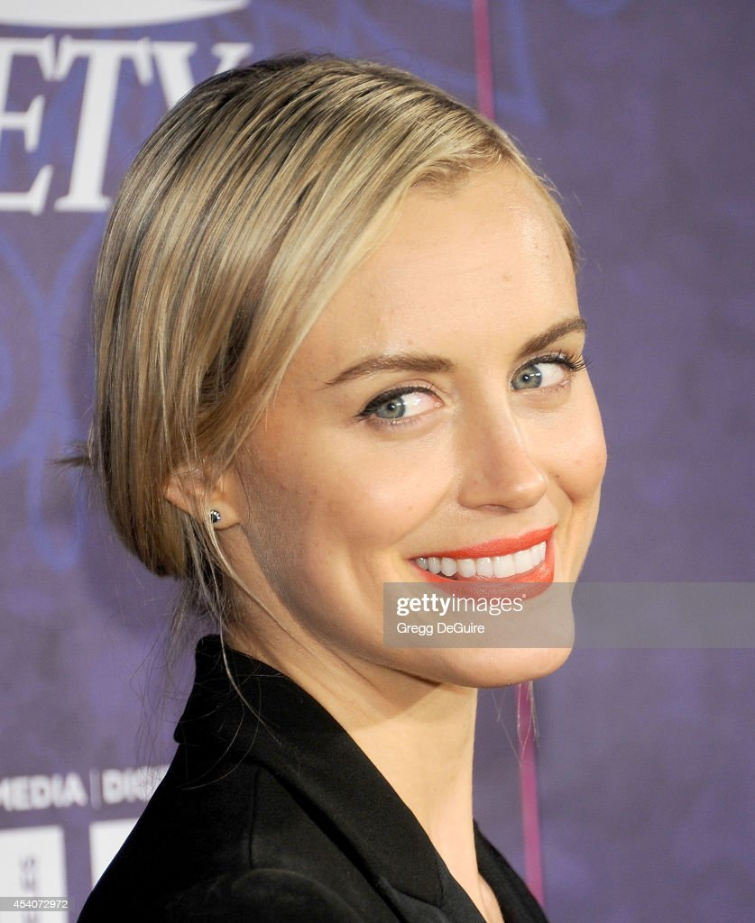 Actress Taylor Schilling arrives at the Variety And Women In Film Annual Pre-Emmy Celebration at Gracias Madre on August 23, 2014 in West Hollywood, California.