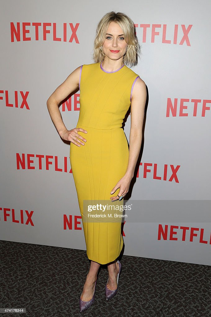 Actress Taylor Schilling attends Netflix's 'Orange Is The New Black' For Your Consideration Screening and Q & A at the Directors Guild Of America on May 20, 2015 in Los Angeles, California.
