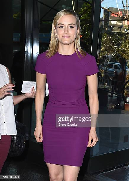 Actress Taylor Schilling attends Netflix's 'Orange is the New Black' panel discussion at Directors Guild Of America on August 4 2014 in Los Angeles...
