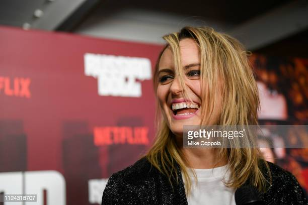 """Actress Taylor Schilling attends Netflix's """"Russian Doll"""" Season 1 Premiere at Metrograph on January 23, 2019 in New York City."""