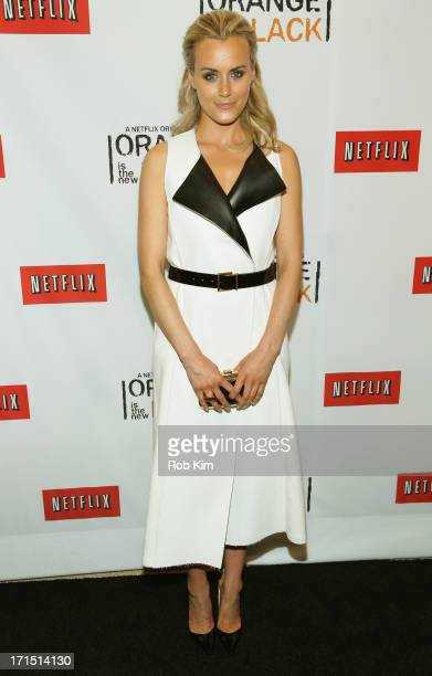 Actress Taylor Schilling attends 'Orange Is The New Black' New York Premiere at The New York Botanical Garden on June 25 2013 in New York City