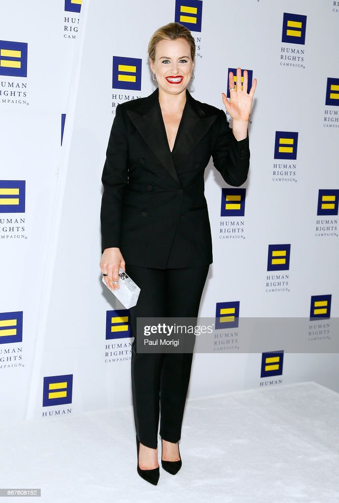 Actress Taylor Schilling attends the 21st Annual HRC National Dinner at the Washington Convention Center on October 28, 2017 in Washington, DC.