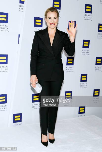 Actress Taylor Schilling attends the 21st Annual HRC National Dinner at the Washington Convention Center on October 28 2017 in Washington DC
