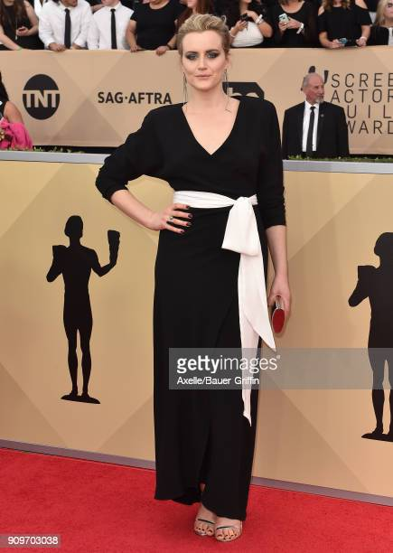 Actress Taylor Schilling attends the 24th Annual Screen Actors Guild Awards at The Shrine Auditorium on January 21 2018 in Los Angeles California