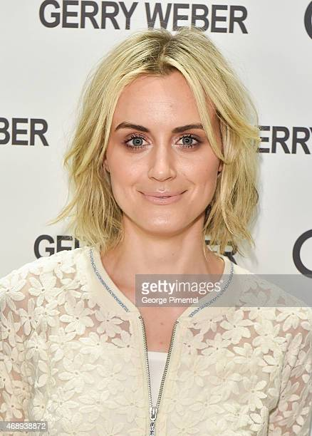 Actress Taylor Schilling attends the Canadian launch of GERRY WEBER at Yorkdale Shopping Centre on April 8 2015 in Toronto Canada