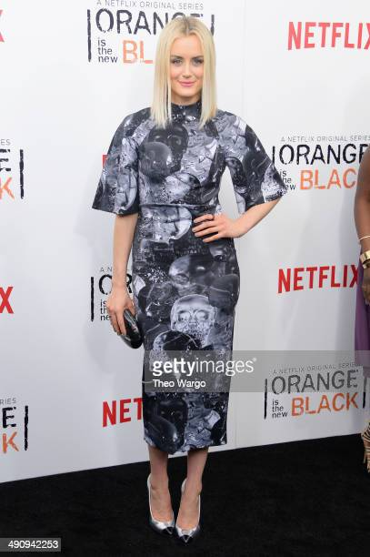 Actress Taylor Schilling attends the Orange Is The New Black season two premiere at Ziegfeld Theater on May 15 2014 in New York City