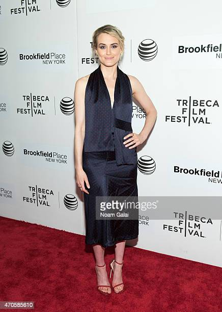 Actress Taylor Schilling attends 'The Overnight' premiere during the 2015 Tribeca Film Festival at BMCC Tribeca PAC on April 21 2015 in New York City