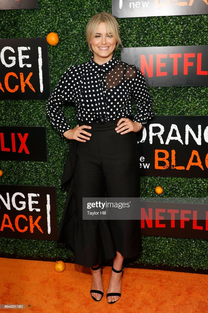 Actress Taylor Schilling attends the Season 5 celebration of 'Orange is the New Black' at Catch on June 9, 2017 in New York City.